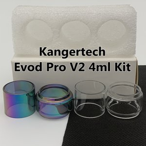 Kangertech Evod Pro V2 4ml Kit Normal Tube Clear Replacement Glass Tube Straight Standard Classic 3pcs box Retail Package