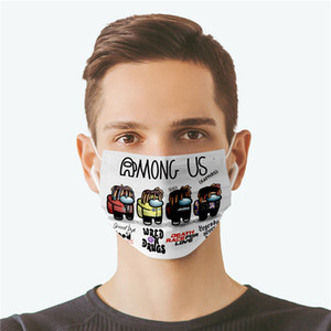 New Among Us Game Mask Environmental Protective Mouth Face Mask Children Reusable Washable Dust-proof Protection Unisex Adults Cosplay Mask