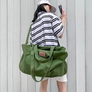 Chuwanglin повседневный холст женщины мужчины сплошной цвет сумки путешествия сумка для хранения фитнес багажник чехол A112703
