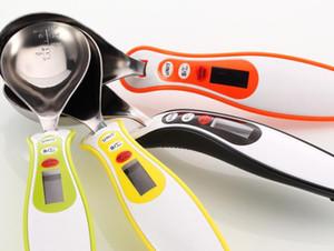 Новый 300г / 0.1г LCD Цифровые кухонные весы Измерение грам Электронные из нержавеющей стали 30мл Ложка Вес Volumn Food Scale