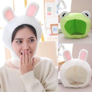 Funny Animal Cute Ear Hat Cap Head Cover Plush Gift Dress Party Headwear Creative Strawberry Hats For Girl Christmas Cap #t1p