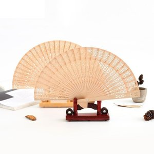 Personalized Wooden hand fan Wedding Favors and Gifts For Guest sandalwood hand fans Wedding Decoration Folding Fans GWD3045