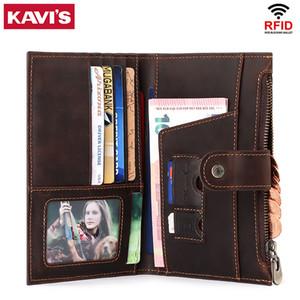 Kavis Crazy Horse Cuir Hommes Couvre-passe Passeport Vintage World World World Voyage Passeport Passport Couverture Couverture en cuir véritable