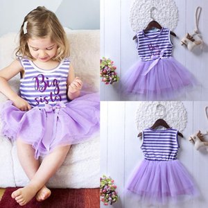 Baby Girl 1 Year Old Birthday Dress Vest Striped Mesh Dress Casual Wear Birthday Child Clothes Baby Party Clothes
