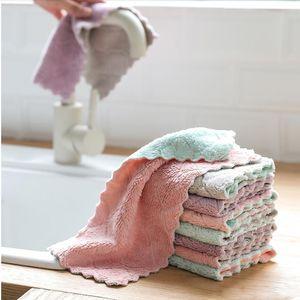 Wiederverwendbare Mikrofaser Reinigungstuch Superabsorbierende Teller Handtuch Home Küche Öl und Staub sauber Wischen Lappen Kitchen Supplies YHM301