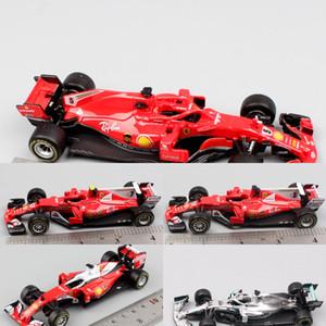 Çocuklar 1:43 Ölçekli Bburago Racer RB15 SF71H SF90 Kimi Raikkonen Charles Leclerc Sebastian Vettel Diecast Model Araç Araba Oyuncak 2019 Y1201