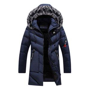 winter jacket men's Thick warm parka coat casual long coat hooded fur collar trench coat jacket leather jacket men Veste HommeX1121