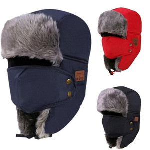 Hot Winter Bluetooth Smart Cap Trapper Hats Beanie Smart Adjustable Music Hat Keep Warm Accessories Outdoor Bluetooth Smartphones MS0231-A