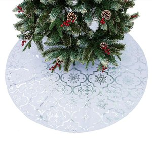 Christmas Tree Skirts Snowflake Elk Ornaments for Home Holiday Party Decor for Christmas Decorations Holiday LBShipping