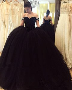 Black Ball Gown Arabic Prom Dresses 2021 Velvet Plus Size Puffy Tulle Princess Masquerade Engagement Evening Party Gowns