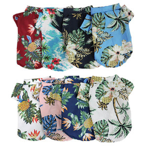 هاواي نمط الكلب الملابس جرو الملابس الحيوانات الأليفة الصيف الملابس الحيوانات الأليفة للكلاب المتوسطة الصغيرة تشيهواهوا القط أرنب الكلب معطف سترة