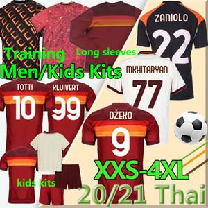 Tayland Dzeko Totti Zaniolo Futbol Formaları Roma De Rossi Kluivert 20 21 4XL Erkekler Çocuklar Roma Futbol Gömlek Üniformaları Pantolon