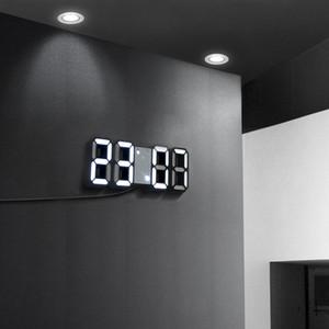 LED Clock Alarm Watch USB Charge Electronic Digital Clocks Wall Horloge 3D Dijital Saat Home Decoration Office Table Desk Clock Q1124