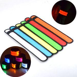 LED Gece Run Bilezik Gece Açık Spor Bilezik Aydınlık Parti Süslemeleri 35 * 4 cm LED Pat Yüzük 7 Renk Çocuk Oyuncak XD24202