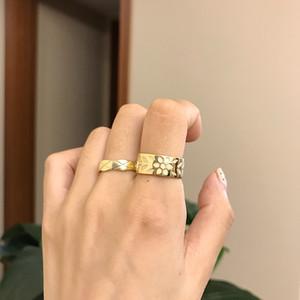 Silvology 925 Sterling Silber Harz Blume Ringe Hohe Qualität Elegante Koreanische Ringe für Frauen 2019 Festival Schmuck Bijoux Femme Y1128