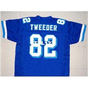 121 Tweder # 82 Varsity Blues Movie New 121 Blue Blue Size Retro College Jersey Размер S-4XL или пользовательское имя или номер Джерси