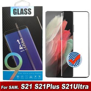 3D Kavisli Durumda Dostu Temperli Cam Telefon Ekran Koruyucu Samsung Galaxy S21 S20 S10 Note20 Artı Ultra S10 S8 S9 Cam Tam Kapak