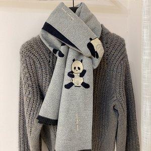 Panda series couple cartoon cute narrow long scarf women winter hair to keep warm and parent-child neckband for men