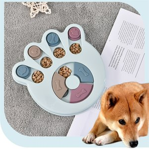 2020 Puzzle Toys Increase IQ Interactive Slow Dispensing Feeding Pet Training Games Feeder For Small Medium Dog Puppy Y1125