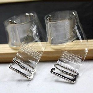 3Pairs = elastico di 6Pcs Fibbia in metallo reggiseno cinghie Cintura donna in silicone trasparente regolabile invisibile accessori Donne Intimates