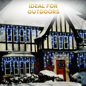 NEW CHRISTMAS 480 720 960 1200 LED ICICLE SNOWING XMAS CHASER LIGHTS OUTDOOR IN TUB