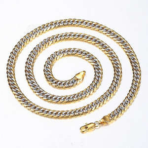 New Fashion 6mm Gold Filled Hammered Cut Curb Cuban Gold Silver Color Chain Necklace for Men Women Jewelry Gift Wholesale Supply