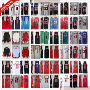 Retro Basketball 33 Scottie 91 Dennis Pippen Rodman Jerseys Black Green Red White Cheap Derrick 1 Rose Jerseys Cheap Wholesale