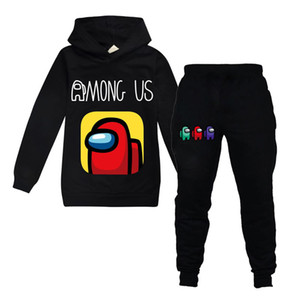 Spring Fall Among Us Hoodie Set For Big Boy Girl Clothes Amongus Children Game 3d Print Sweatshirt Top+Trouser 2pc Outfit Kid Tracksuit