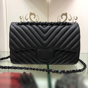 Klasik Moda Tasarımcısı Kadın Çanta Çanta Yüksek Kaliteli Zincir Çapraz Vücut Çantaları Küçük Omuz Çantası Hakiki Deri Messenger Siyah Tote Çanta