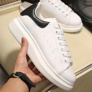 Top Quality Fashion Genuine Pelle Mens Donne Scarpe da donna Confortevole Piattaforma in pelle bianca scarpe piatte scarpe casual taglia 35-45