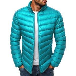 New Parkas Mujer Jackets Mens Parkas Quality Winter Warm Zipper Coats Slim Solid Stand Collar Outwear Casual Windbreak Jackets 201201