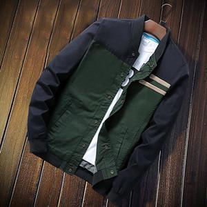 Spring Autumn Mens Thin Pilot Jacketse Baseball Jacket Men patchwork Fashion Slim Zipper Bomber Jackets Men Overcoat