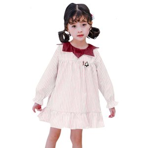 Clearance NEWEST summer and autumn Toddler Kids Baby Girl Striped Casual Princess Party Dress Sundress Clothes 0118