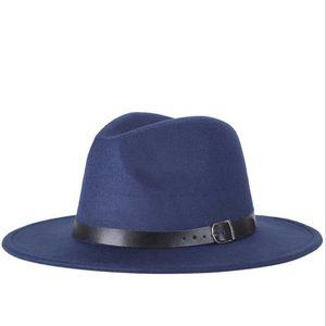 Luxury-2020 free shipping new Fashion men fedoras women's fashion jazz hat summer spring black woolen blend cap outdoor casual hat
