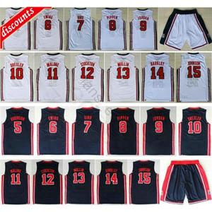 1992 Team Basketball 9 Larry Bird Patrick Ewing Scottie Pippen Mullin Robinson Drexler Laettner Stockton Malone Charles Barkley Trikots