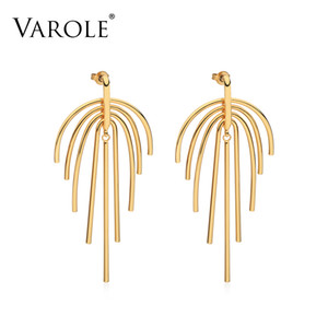 VAROLE Swing Lines Dangle Earrings Gold color Earings Drop Earrings For Women Long Earring Fashion Jewelry Pendientes Mujer Moda