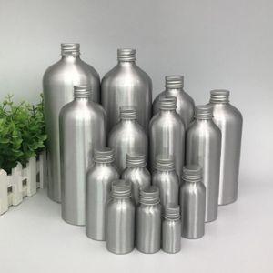 50 100pcs 10 30 50ml small Aluminum silver empty bottle Screw cap cosmetic jar Sample Perfume essential oil Refillable bottles
