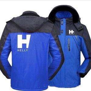 M-5XL Plus Size Herren Windjacke HH Designer Wintermantel warme Fleece-Futter Softshell Wasserdichte im Freien mit Kapuze Outwear E111603
