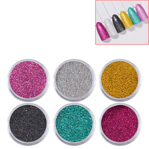 Lot of 6pcs Mixed Color Nail Glitter Dust Powder Set for Decoration Nail Art Tips UV Gel Acrylic Manicure Decoration DIY Convenient