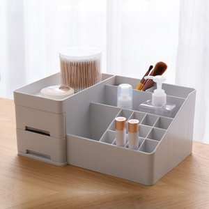 YiCleaner Large Cosmetics Box Plastic Make-up Organizer Drawer Lipstick Brush Holder Nail Polish Storage Case Bathroom Box Z1123