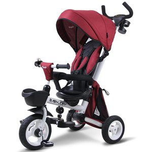 Hot Selling Hot Mom Children's Tricycle Baby Folding Two-way Lightweight 1-3 Year Old Baby Stroller Tricycle for Kids Kids Car