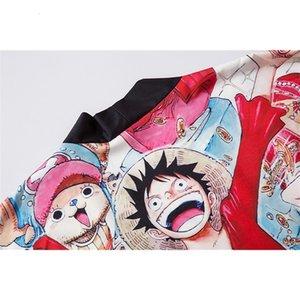 2020 Nuova T-Shirt Spoof Cartoon Cartoon Cartoon Pirata Wang Lufei Stampato Cassocks Cardigan Top allentato