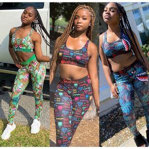 Kadın Tasarımcı Mayo Kırpma Üst Yelek + Swim Pantolon Gövdeleri Boksörler 2 Parça Set Eşofman Patchwork Shark Camo Mayo