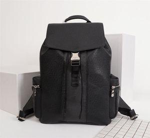 Novo designer de mochila, unisex, estrutura de alta qualidade, grande capacidade, laptop, acabamento de couro, zíper interno
