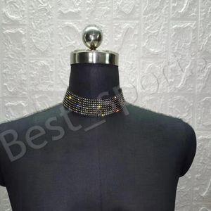 Bling Bling Strass Halskette Mode Acht Reihen Kristall Schmuck Frauen Anhänger Nachtclub Metall Halskette Partei Favor YYA578