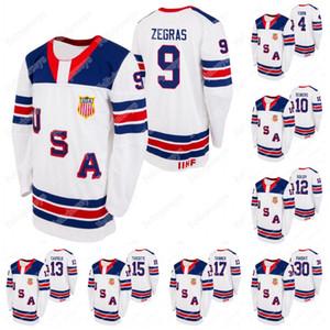 USA 2021 IIHF WJC Gold Winner Jersey 9 Тревор Зеграс 30 Спенсер Knight Cam York Hunter Skinner Matthew Boldy Cole Caufield Matthew Beeniers