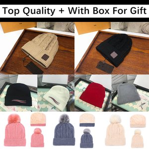 2020 Top Quality For Gift With Box New Mens Women Skull Caps Beanie Bonnet Winter Men Knitted Hat Caps Warm Hats Durag Beanies Gorros 20ss