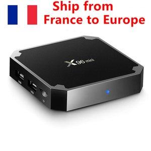 (Fransa'dan Gemi X96 Mini X96Mini 2 GB 16 GB Android TV Kutusu 7.1 Akıllı TV Kutusu Amlogic S905W Quad Core Wifi Media Player