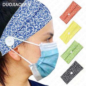 Headband para com mulheres meninas botão moda face máscara titular esportes headbands largo faixa de cabelo envoltório fita f xhwazh
