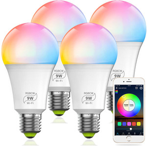 Smart WiFi 9W (80w Equivalent)Light Bulb, Dimmable Multicolor E27 A19 LED Light Bulb, Compatible with Alexa Google Home Siri IFTTT